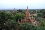 view from Shwesandaw pagoda. probably a great place for sunsets as you can climb up