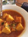 a tomato base tofu curry